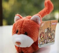 pegatina de corazón naranja al por mayor-Home love animals Cute orange cat heart etiqueta engomada del refrigerador imán de nevera para los niños mensaje titular decoración para el hogar