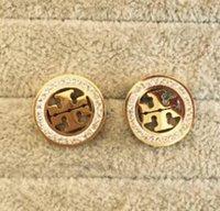york platten großhandel-18 Arten berühmte Designer-Gold überzogene Ohrstecker arbeiten Edelstahl-Ohrringe für Frauen-Mädchen-Großhandelspaare New York um