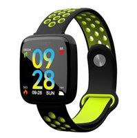 kalp atış hızı kemerini izle toptan satış-F15 smart watch 1.3 inç renkli ekran çelik kemer kalp hızı kan basıncı uyku izleme IP68 adım spor akıllı bilezik