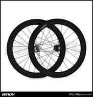 ruedas fijas al por mayor-700c 60mm engranaje fijo tubular UD mate especial Track Carbon entrega rápida factor decisivo Ruedas