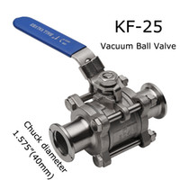 Wholesale KF Vacuum Ball Valve Dairy products Cosmetics Food and Chemical fields Hot