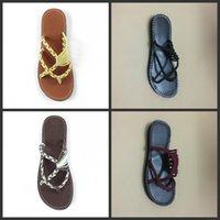 ingrosso pantofole-Knit Chinela Infradito Scarpe Outdoor Slipper Flat Keel Leak Fingers Beach Ladies Multi colore Estate Nuovo modello 26pyf1