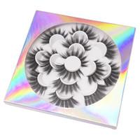 sahte lotus toptan satış-7 çift / takım Lotus Kirpikler 25mm 3D Kirpik Göz makyajı Vizon Yanlış lashes Yumuşak Doğal Kalın Sahte Göz Lashes Uzatma Güzellik Araçları GGA2137