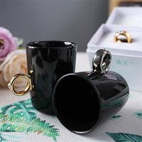 Wholesale hot valentines day gifts online - New Office Ceramic Cup Creative Valentine Day Gift Ring Mug Workmanship Luxury Water Tumbler Hot jg Ww
