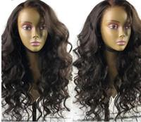 ingrosso parrucche dei capelli umani brasiliani-Parrucche dei capelli umani del merletto dei capelli umani dell'onda del merletto del corpo dell'onda del merletto dei capelli umani 8A brazillian per le donne nere