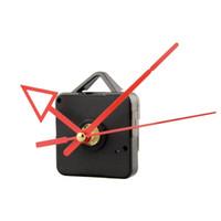 Wholesale mechanical clock kits for sale - Group buy Silent Clock Quartz Movement Mechanism Red Arrow Hand Part Repair Kit Set