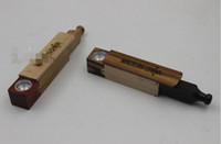 holz-rauch-werkzeug großhandel-Neue Teleskop Rutsche Zigarette Holz Rauchen Tabak Rauchen Kräuter Hand Rohr 10 CM / 8,3 cm Länge Filter Halter Werkzeug Zubehör Metall Schüssel