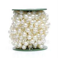 blumen 3mm großhandel-NEUE ART IN STOCK! 30meters 12MM + 3 MM Perlen Hochzeit Girlande Herzblume / Tischkerze Dekoration DIY Crafting
