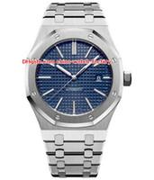 relojes de hombre al por mayor-5 estilo de alta calidad de lujo reloj de alta calidad 41 mm costa afuera 15400 15400ST15400SR Asia transparente mecánico automático para hombre relojes de hombre