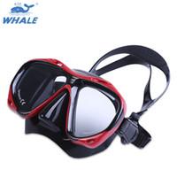 óculos de mergulho venda por atacado-BALEIA Profissional Máscara De Mergulho De Mergulho Óculos De Natação