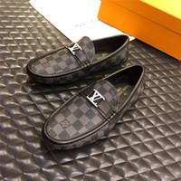 cinturón de zapatos de boda al por mayor-Venta caliente 2019 Nuevo Diseñador de Lujo Hombres Zapatos de Negocios Con Hebilla de Cinturón de Cuero Genuino Marca Hombres Oficina Zapatos de Vestir de Boda Tamaño 38-45