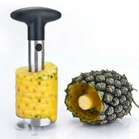 Wholesale stem packs for sale - Group buy Stainless Steel Pineapple Peeler Fruit Corer Slicer Peeler Stem Remover Cutter Kitchen Tool Pineapple knife opp bag pack MMA1582
