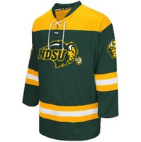 Wholesale Custom Men s NDSU Bison Colosseum Hockey Jersey Embroidery Stitched Any Name Any Number Hight Quality Size S XL