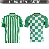 camisetas de fútbol de alta calidad al por mayor-Camiseta de fútbol Real Betis19-20 de alta calidad barata Camiseta de fútbol transpirable Uniforme de fútbol barato y fino