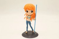 figurinhas de uma peça venda por atacado-One Piece Action Figure Modelo Anime Nami Q Versão Bonecas Decoração Pvc Classic Collection Estatueta Brinquedos para Presentes 15 cm