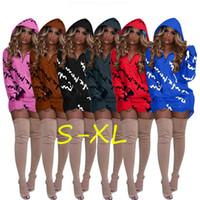 vestidos longos e soltos venda por atacado-Designer de luxo mulheres com capuz dress outono hoodies saia campeão marca manga longa primavera camisola casaco solto moletons vestidos c8905