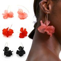 brincos pendentes venda por atacado-Resina Flor Brincos longos 2019 pendientes moda jóias Bohemia Handmade Pétala Dangle Brincos para as mulheres presentes mujer Q4