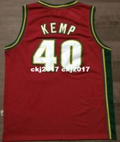 45a619bdb8b6 NCAA Cheap Throwbacks  40 Shawn Kemp Jersey Mitchell   Ness Retro Mens  Stitched White Green Red basketball Jerseys XS-5XL