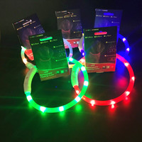 Wholesale The latest style pet dog collar LED battery full body luminous circle luminous collar Night flashing luminous dog collar
