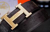pantalones unisex al por mayor-Nuevo diseñador de lujo cinturones de cuero de alta calidad de los hombres de gran tamaño de hebilla GRANDE negocios correa del pantalón hombre cinturones de mujer con marca de caja