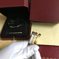 unhas que desvanecem a cor venda por atacado-Top Amor Pulseiras Pulseira de prata rosa de ouro Pulseiras Mulheres Homens Parafuso Chave De Fenda Pulseira Casal Jóias com caixa original de Alta-grade
