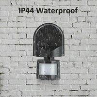 sécurité des détecteurs extérieurs achat en gros de-Détecteur de mouvement infrarouge détecteur de mouvement infrarouge lampe à 180 degrés 12M LED à montage mural mural
