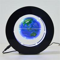 luces de mapa 12v al por mayor-Iluminación navideña Globo flotante magnético Mapa mundial Creativo Lámpara de luz nocturna Lámpara de novedad Iluminación para el hogar JK0404