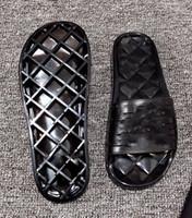 cristais de gelatina venda por atacado-sandálias de cristal geléia preto vermelho Mulheres Designer Sandálias chinelos de luxo com caixa de Designer de luxo Deslize Verão Plano Sandals Slipper
