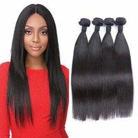 hızlı nakliye boyası toptan satış-Düz 4 adet Saç Demetleri Hint İnsan Saç Extehsions Saç Atkı Boyalı Olabilir 4-30 inç Hızlı Kargo G-EASY
