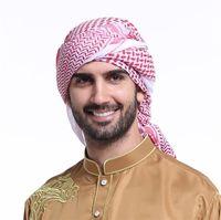 мусульманские перчатки оптовых-Arab Hijab Men Hijabs Saudi Arabia Headband Dubai Wrap Georgette Hijab Islamic Muslim Man Basic Veils Lady Turban Hijabs