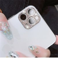 Wholesale Diamond Camera Lens Protector Film For iPhone Pro Max Glitter crystal Len Protector Cover For iPhone11 Pro Max Glass Cover