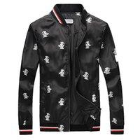 stilvolle schwarze jacken großhandel-Designer-Jacken der modernen stilvollen Männer der Toucan gedruckte Luxusjacke heißer Verkäufer Youngth Black Windjacke