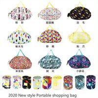 Wholesale eco handbag design resale online - New design Supermarket shopping bag waterproof shopper tote bag fashion Eco friendly handbag materials Portable eco bag