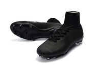 Wholesale cr7 best shoes for sale - Group buy Best Quality All Black Soccer Cleats Superfly V TF IC FG Ronaldo CR7 Football Boots Mens Kids Womens Soccer Shoes Sneakers