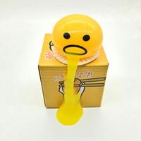 divertido brinquedos anti stress venda por atacado-Vomitando Ovo Anti Stresse Toy Yolk Vômito Squeezed Slime Criativo Brincadeira Presentes Fun Stress Relief Ventilação Esferas Saudável Squeeze