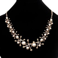 Wholesale fashion bijoux for sale - Flower Necklace for Women Fashion Simulated Pearl Jewelry Sweater Choker Necklace Bijoux Femme Perle Tassel Perlas Necklaces Pendants