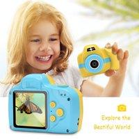 jeux vidéo de boîte à jouets achat en gros de-Mini enfants caméra 1080p appareil photo numérique jouets écran tactile support tf carte vidéo jouer à des jeux pour enfants cadeau cadeaux de noël avec boîte de détail