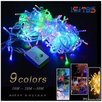 Wholesale keyboard light plugs for sale - Group buy 110V V M M M RGB holiday light LED String Light EU plug Christmas Wedding Party Decor Lights outdoor led lamp Waterproof