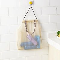 Wholesale Mesh Bag Reusable Hanging Kitchen Fruit and Vegetable Storage Bags Mesh Storage Pouch Durable Wear resisting Place saving Bags DH0367
