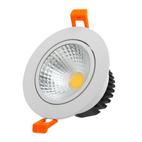 ingrosso lenti a soffitto-LED COB Downlights Dimmerabile 21W 18W 15W 12W 9W Illuminazione a LED AC 85-265V Vetro smerigliato Lente da incasso Lampada da soffitto Illuminazione interna LLFA
