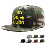 chapéus verdes feitos sob encomenda do snapback venda por atacado-Fábrica Customized AdultoCrianças Tampas de Viagem Camo boné de beisebol Dos Homens Do Exército verde Verão Snapback Personalizado 3D bordado Hip Hop chapéu Menino camuflagem