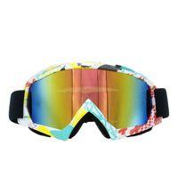 tragbare sonnenbrille großhandel-FDBRO Snowboardmaske Snowboardmasken Skibrille Sonnenbrillen Anti UV400 Snowblindness Print Brillen Skifahren Tragbare Brille