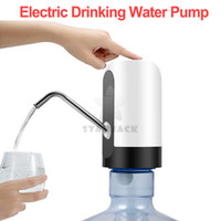 насос диспенсера в бутылках оптовых-Автоматический Водяной Насос Для Двойной USB Зарядки Бутылки Двигателя Электрический Диспенсер Бутылок Для Питьевой Воды Ручной Насос Бутилированная Вода
