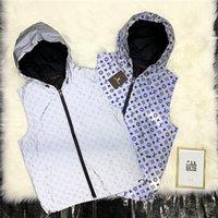 erkekler yelek ceketler toptan satış-19ss Yeni lüks marka tasarım tam logolar baskı 3 M yansıtıcı yelek ceket Erkek Kadın kapüşonlu Yelek Streetwear Tişörtü Açık gömlek