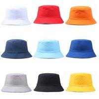 geniş şapkalı golf şapkaları kadınlar toptan satış-Seyahat Balıkçı Eğlence Kova Şapka Düz Renk Moda Erkek Kadın Düz Üst Geniş Ağız Yaz Kap Açık Spor Vizör Için dc281