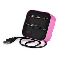Wholesale peripheral hub for sale - Group buy 3 High Speed Port USB HUB USB Splitter Adapter for Notebook Tablet Computer PC Peripherals Accessories Pink