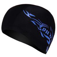 водонепроницаемая ткань оптовых-Взрослый унисекс мягкая шапочка для купания шапочка для плавания водонепроницаемая спандекс атлетика твердые