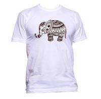 ingrosso maglietta rossa del bambino-T-shirt da disegno etnico baby elefante da donna unisex Moda Slogan Comedy bianco grigio nero pantalone maglietta