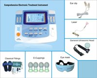 Wholesale pulsed magnetic resale online - New Ultrasound Physical Therapeutic Needleless Electro Acupuncture Apparatus Electronic Pulse Stimulator Laser Magnetic Machine