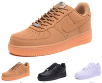huge selection of 4c7fb a98ed nike air force 1 2018 flyknit Wholesale scarpe casual di alta qualità nuovo  uomo alla moda alta cima bianca scarpe basse basse donne nere come neutro 1